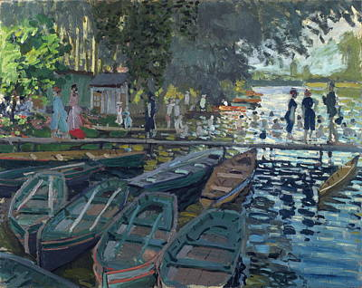 Painting - Bathers At La Grenouillere by Claude Monet
