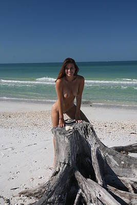 Art Print featuring the photograph Beach Girl by Lucky Cole