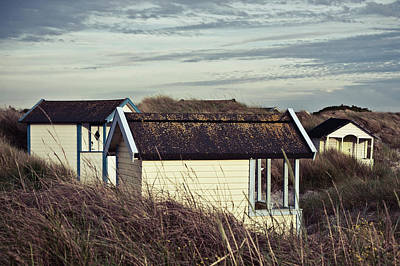 Photograph - Beach Houses And Dunes by Michael Maximillian Hermansen