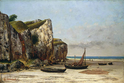 Courbet Painting - Beach In Normandy by Gustave Courbet