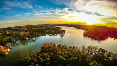 Lake Wylie Photograph - Beautiful Sunset Over Lake Wylie South Carolina by Alex Grichenko