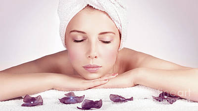 Photograph - Beautiful Woman At Spa by Anna Om