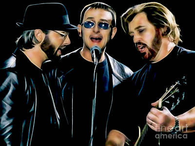 Bee Gees Collection Art Print by Marvin Blaine