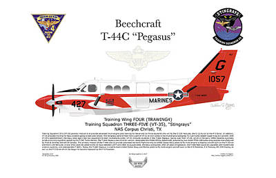 Digital Art - Beechcraft T-44c Pegasus by Arthur Eggers