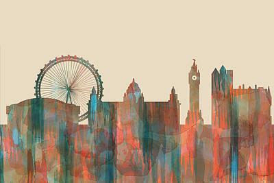 Digital Art - Belfast Ireland Skyline by Marlene Watson
