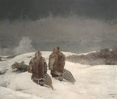 Below Zero  Art Print by Winslow Homer