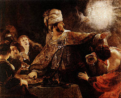 Belshazzar Digital Art - Belshazzars Feast  by Rembrandt