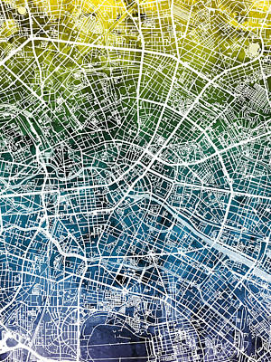 Berlin Germany City Map Art Print