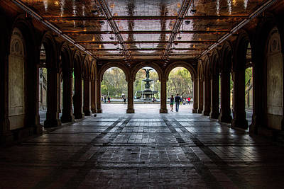 Photograph - Bethesda Terrace by Robert J Caputo