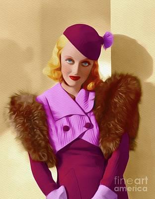 Painting - Bette Davis, Vintage Movie Star by John Springfield