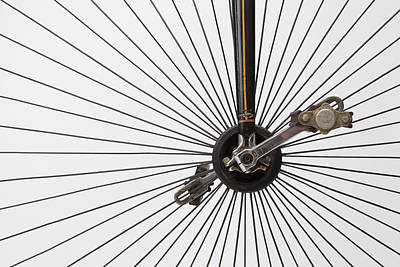Up-cycled Photograph - Bicycle Wheel by American School