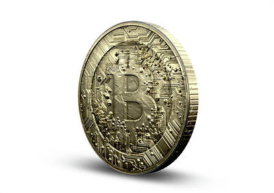 Virtual Digital Art - Bitcoin Physical by Allan Swart
