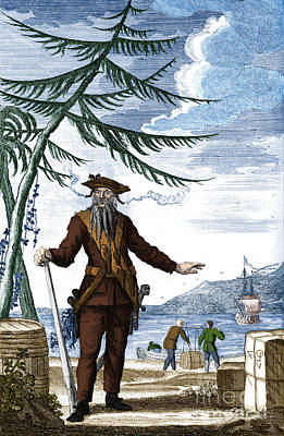 Blackbeard, Edward Teach, English Pirate Art Print by Science Source