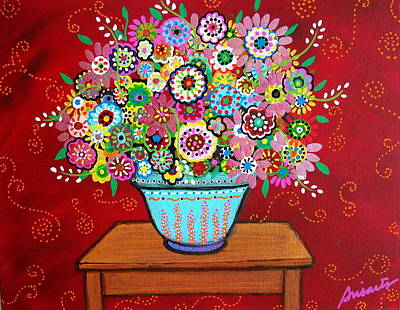 Painting - Blooms by Pristine Cartera Turkus