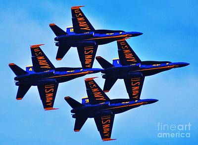 4 Blue Angels Art Print