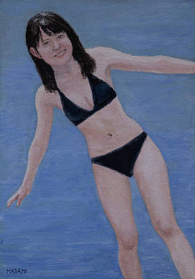 Painting - Blue Bikini by Masami IIDA