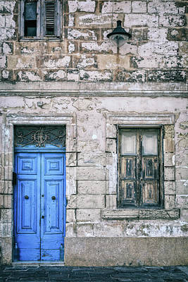 Malta Photograph - Blue Door by Joana Kruse