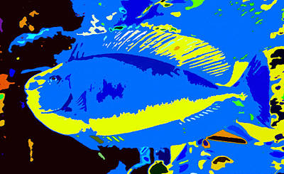 Painting - Blue Fish by David Lee Thompson
