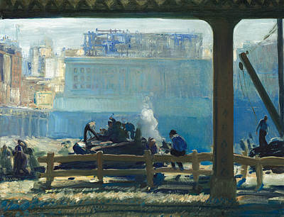 Bellows Wall Art - Painting - Blue Morning by George Bellows