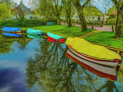 Photograph - 4 Boats Broek In Waterland by Paul Wear