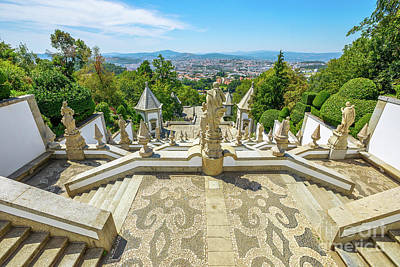 Photograph - Bom Jesus Staircase Braga by Benny Marty