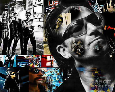 Bono Mixed Media - Bono Collection by Marvin Blaine