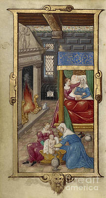 1470 Painting - Book Of Hours by Celestial Images