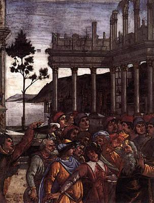 Digital Art - Botticelli The Punishment Of Korah   by Sandro Botticelli