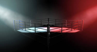Fight Digital Art - Boxing Ring Opposing Corners by Allan Swart