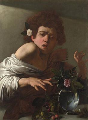Boy Bitten By A Lizard Painting - Boy Bitten By A Lizard by Caravaggio