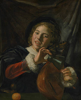 Painting - Boy With A Lute by Frans Hals