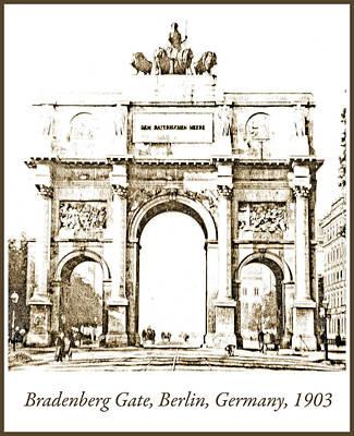 Photograph - Brandenburg Gate, Berlin Germany, 1903, Vintage Image by A Gurmankin