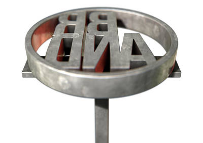 Labelled Digital Art - Branding Iron Brand by Allan Swart