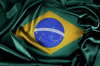 Brazil Flag Print by Les Cunliffe