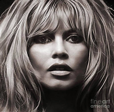 Mixed Media - Brigitte Bardot Collection by Marvin Blaine