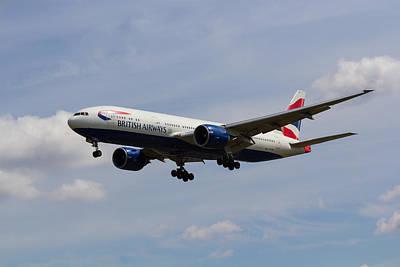 British Airways Boeing 777 Art Print