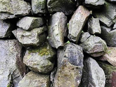 Alliance Photograph - British Dry Stone Wall, Photo By Mary Bassett by Mary Bassett
