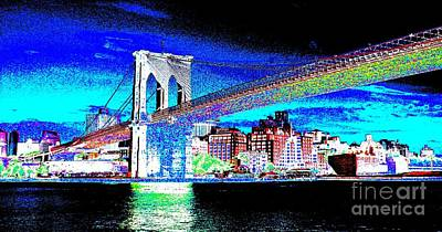 Painting - Brooklyn Bridge by Julie Lueders