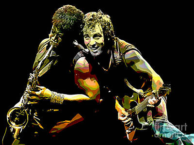 Bruce Springsteen Clarence Clemons Art Print by Marvin Blaine