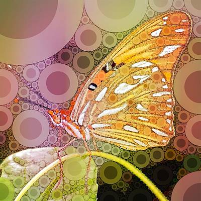 Animals Royalty-Free and Rights-Managed Images - Bubble Art Butterfly by John Springfield