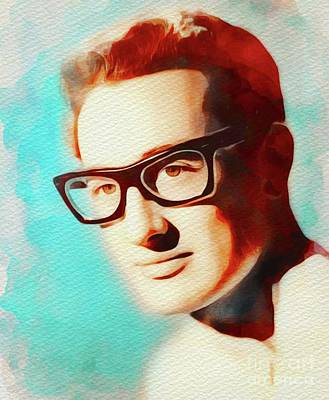 Music Royalty-Free and Rights-Managed Images - Buddy Holly, Music Legend by Esoterica Art Agency