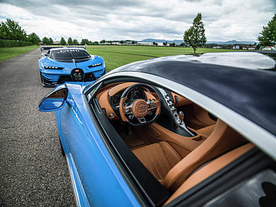 Photograph - Bugatti Chiron And Vision Gt by George Williams