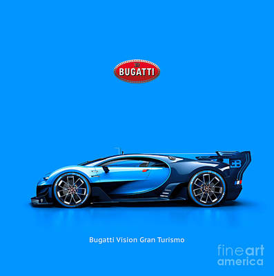 Bugatti Vision Gran Turismo Art Print by Mohamed Elkhamisy