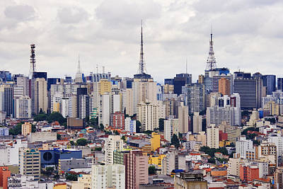 Buildings Of Downtown Sao Paulo Art Print by Jeremy Woodhouse