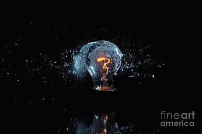 Photograph - Bulb Explosion by Gualtiero Boffi