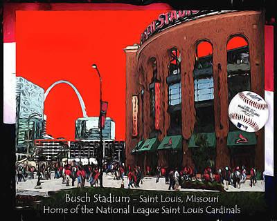 Photograph - Busch Stadium by John Freidenberg