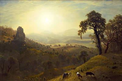 California Art Print by Albert Bierstadt