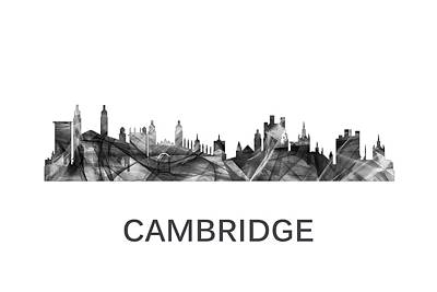 Cambridge Digital Art - Cambridge England Skyline by Marlene Watson