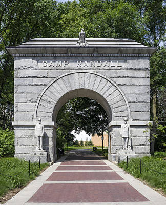 Photograph - Camp Randall Memorial Arch - Madison by Steven Ralser