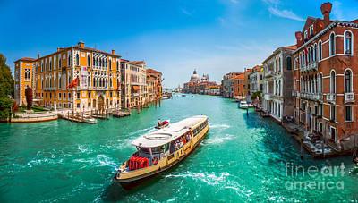 Photograph - Canal Grande With Basilica Di Santa Maria Della Salute, Venice by JR Photography